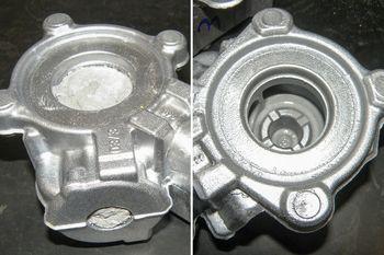 De-coring engine blocks, cylinder heads, gear housings and intake manifolds