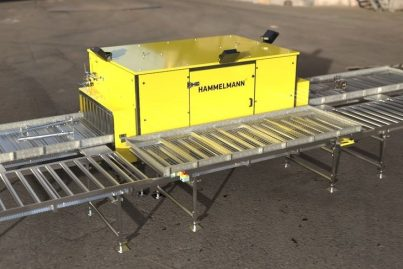 High volume throughput waterjet cleaning system