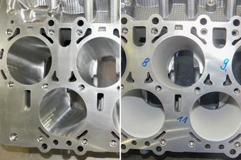 Roughening cylinder bores