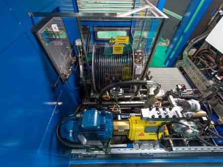 pressure test unit hose reel